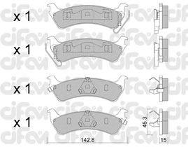 Тормозные колодки CIFAM 822-527-0