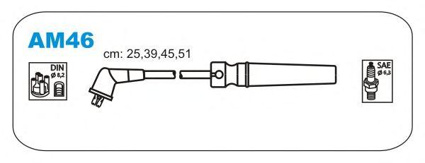 Комплект высоковольтных проводов JANMOR AM46