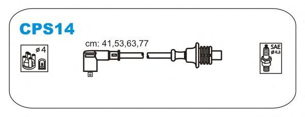 Комплект высоковольтных проводов JANMOR CPS14