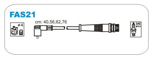 Комплект высоковольтных проводов JANMOR FAS21