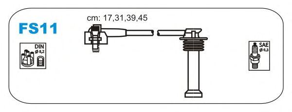 Комплект высоковольтных проводов JANMOR FS11