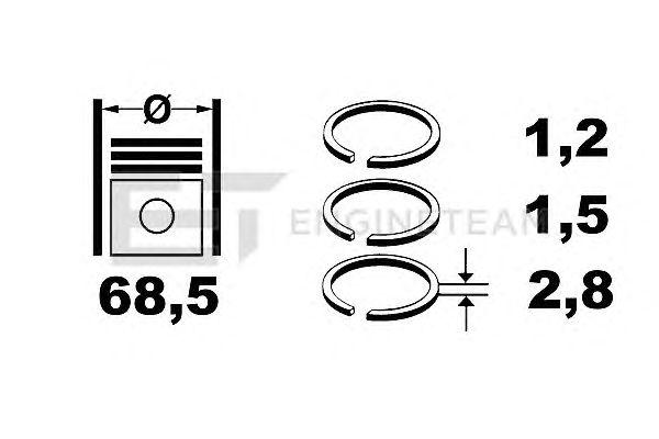 Поршневые кольца ET ENGINETEAM R1001200