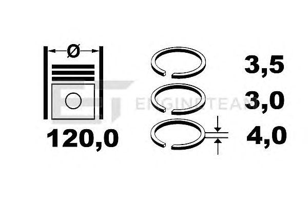 Поршневые кольца ET ENGINETEAM R1003100