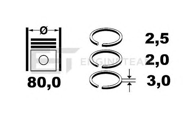Поршневые кольца ET ENGINETEAM R1004300