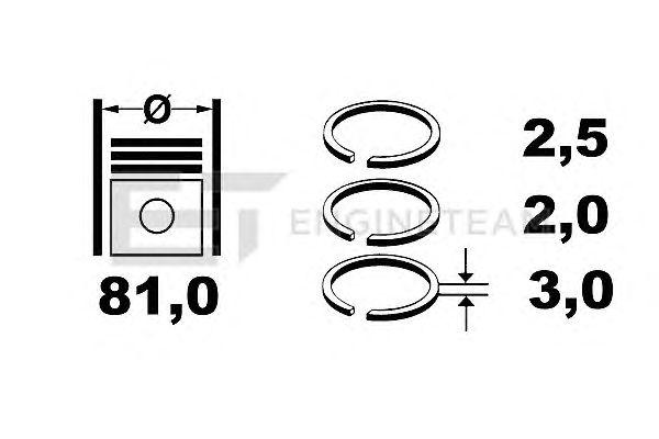 Поршневые кольца ET ENGINETEAM R1004900