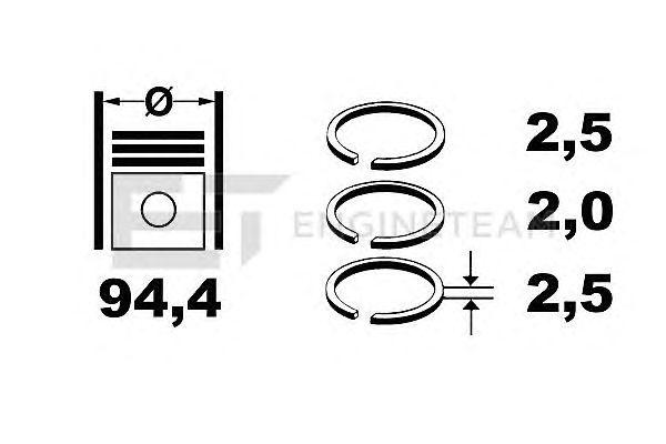 Поршневые кольца ET ENGINETEAM R1007100