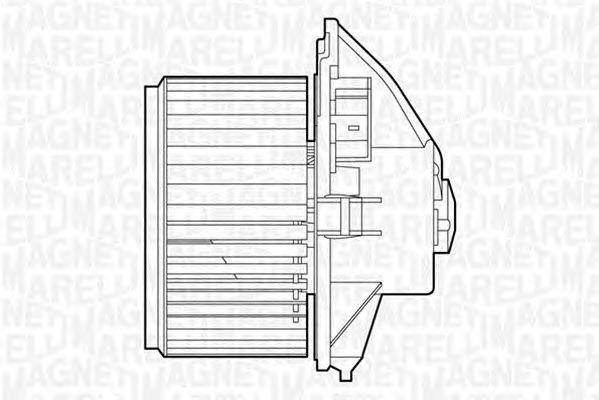 Вентилятор отопителя MAGNETI MARELLI 069412511010