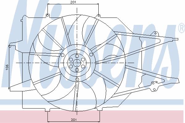Вентилятор охлаждения NISSENS 85213
