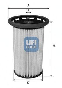 Топливный фильтр UFI 26.025.00