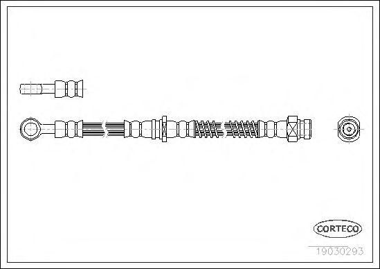 Тормозной шланг CORTECO 19030293