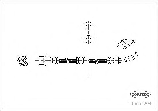 Тормозной шланг CORTECO 19032294
