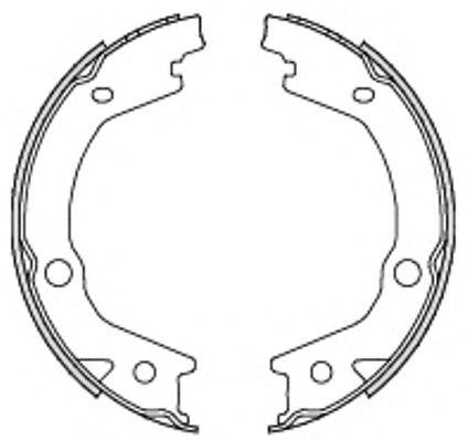 Тормозные колодки ручника REMSA 4697.00