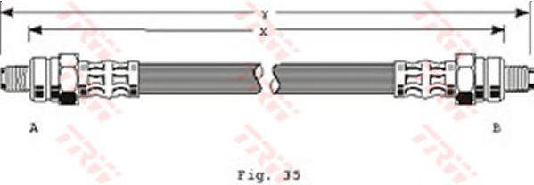 Тормозной шланг TRW PHC207