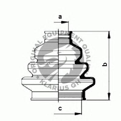 Комплект пыльника ШРУСа QH International QJB168