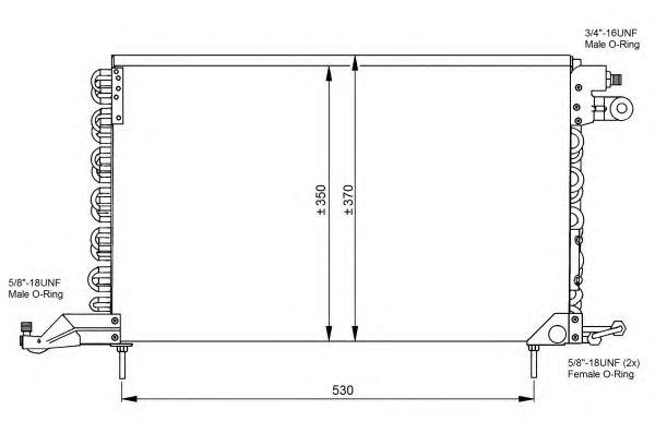 Радиатор кондиционера NRF 35027