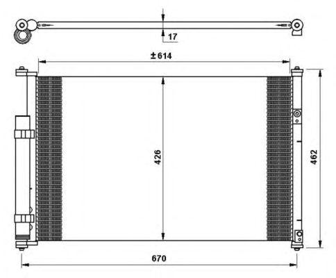 Радиатор кондиционера NRF 35769