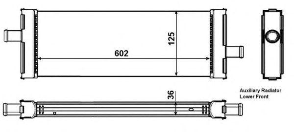 Радиатор, охлаждение двигателя NRF 53006