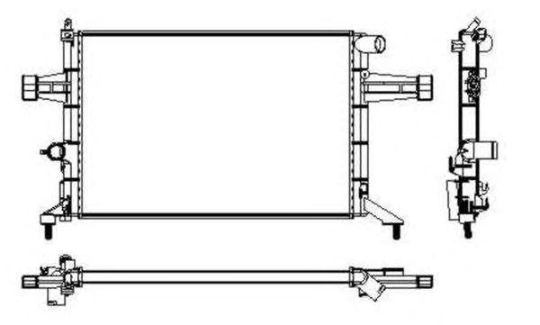 Радиатор, охлаждение двигателя NRF 53628