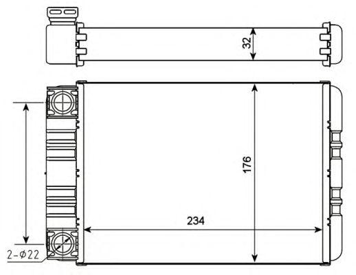 Радиатор отопителя NRF 54274