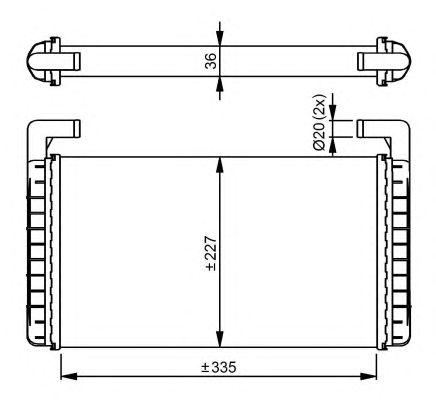 Радиатор отопителя NRF 54299