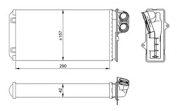 Радиатор отопителя NRF 58036