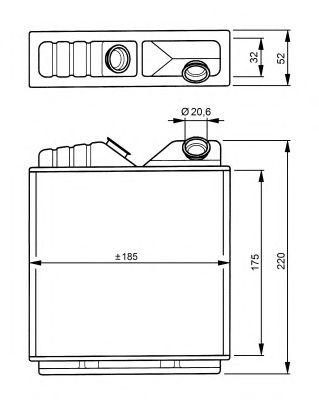 Радиатор отопителя NRF 58146