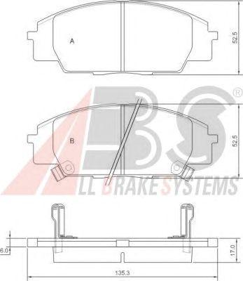 Тормозные колодки A.B.S. 37174