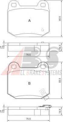 Тормозные колодки A.B.S. 37452