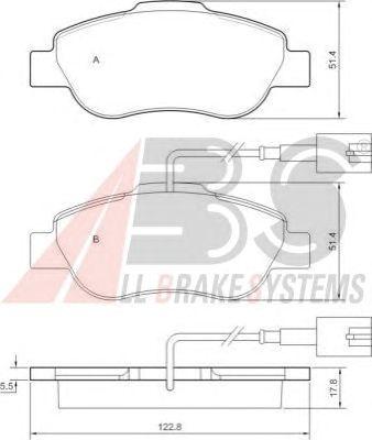 Тормозные колодки A.B.S. 37594