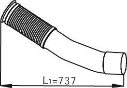 Труба выхлопного газа DINEX 54247