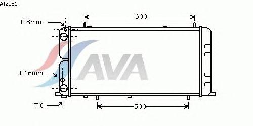 Радиатор, охлаждение двигателя AVA QUALITY COOLING AI2051