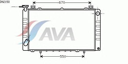 Радиатор, охлаждение двигателя AVA QUALITY COOLING DN2150