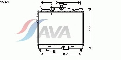 Радиатор, охлаждение двигателя AVA QUALITY COOLING HY2205