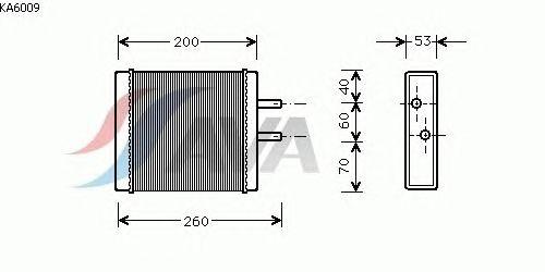 Радиатор отопителя AVA QUALITY COOLING KA6009