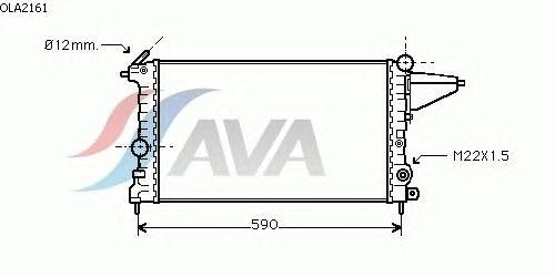 Радиатор, охлаждение двигателя AVA QUALITY COOLING OLA2161