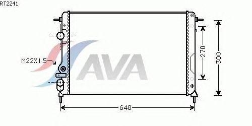 Радиатор, охлаждение двигателя AVA QUALITY COOLING RT2241