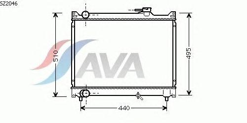 Радиатор, охлаждение двигателя AVA QUALITY COOLING SZ2046