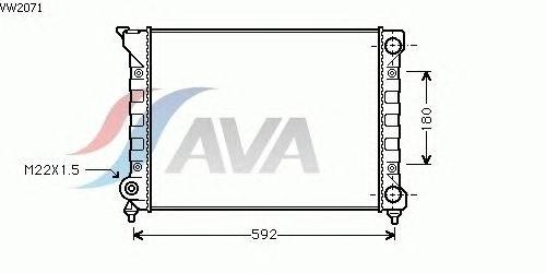 Радиатор, охлаждение двигателя AVA QUALITY COOLING VW2071