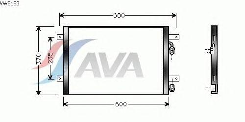 Радиатор кондиционера AVA QUALITY COOLING VW5153