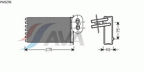 Радиатор отопителя AVA QUALITY COOLING VW6296