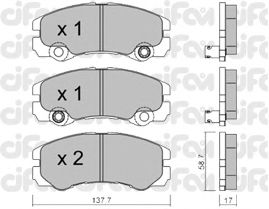 Тормозные колодки CIFAM 822-357-1