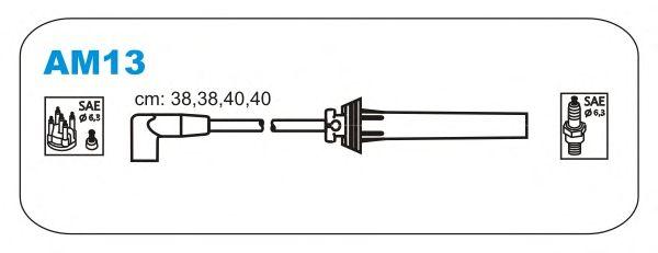 Комплект высоковольтных проводов JANMOR AM13