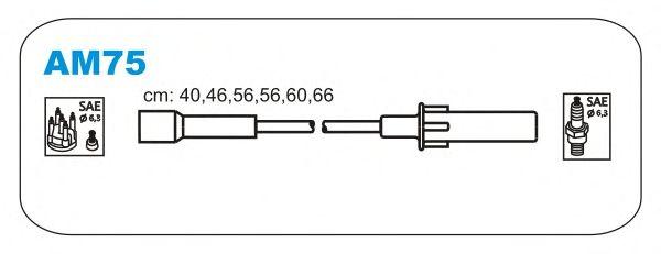 Комплект высоковольтных проводов JANMOR AM75