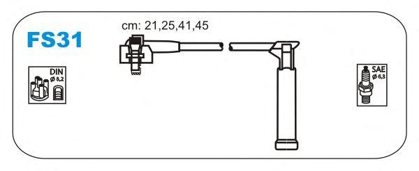 Комплект высоковольтных проводов JANMOR FS31