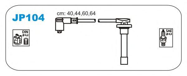 Комплект высоковольтных проводов JANMOR JP104