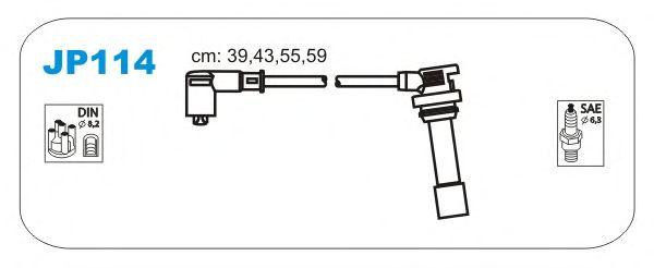Комплект высоковольтных проводов JANMOR JP114