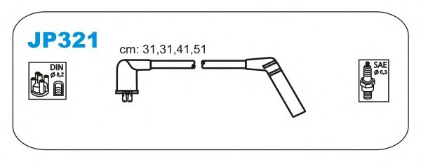 Комплект высоковольтных проводов JANMOR JP321
