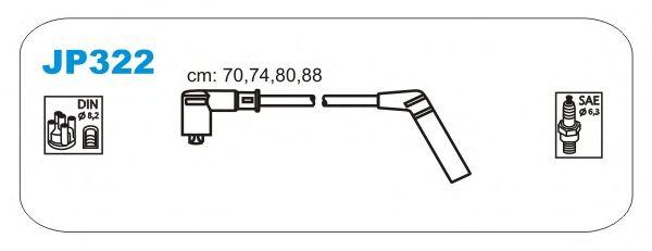 Комплект высоковольтных проводов JANMOR JP322