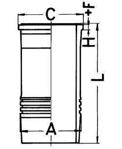 Гильза цилиндра KOLBENSCHMIDT 89834110