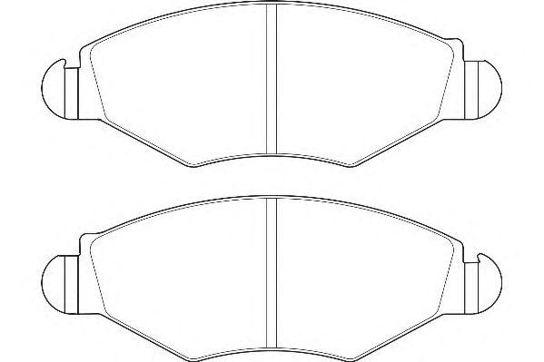 Тормозные колодки WAGNER WBP23597A
